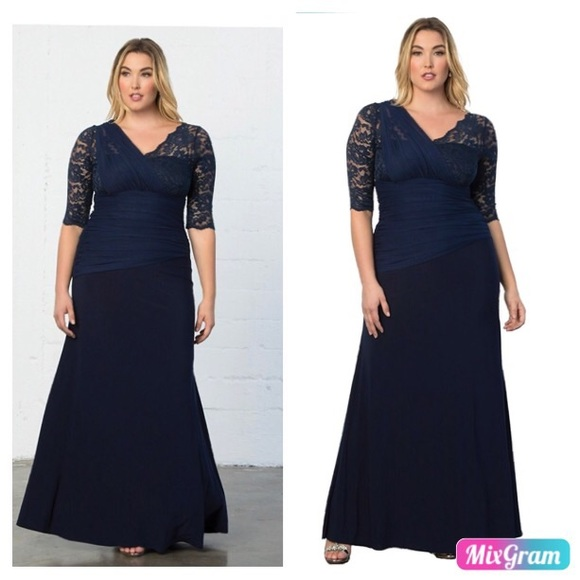 1c57073637e Kiyonna Women s Plus Size Soiree Evening Gown